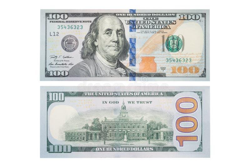 El nuevo billete de dólar de los E S billete de dólar 100, foto de archivo libre de regalías