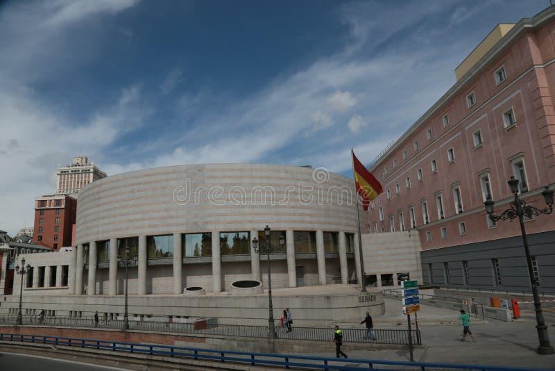 El nuevo edificio del senado en Madrid fotografía de archivo libre de regalías
