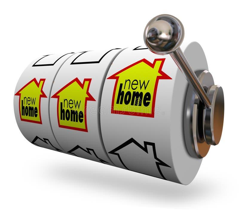 El nuevo hogar redacta las ruedas de la máquina tragaperras que encuentran la mudanza perfecta de la casa libre illustration