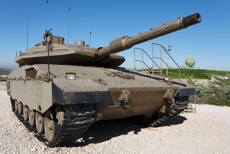 El nuevo tanque israelí de Merkava en museo fotografía de archivo libre de regalías