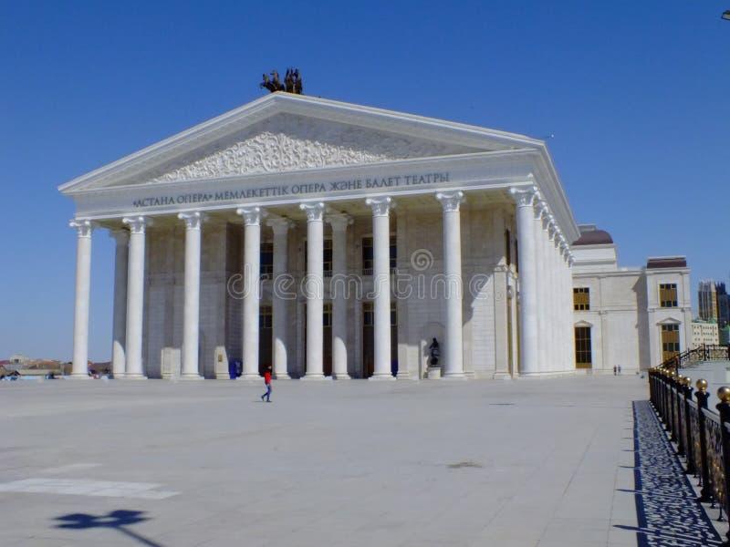 El nuevo teatro de la ópera en Astaná/Kazajistán fotografía de archivo libre de regalías