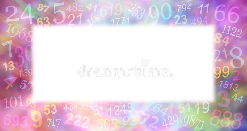 El Numerology multicolor numera el fondo de la frontera ilustración del vector
