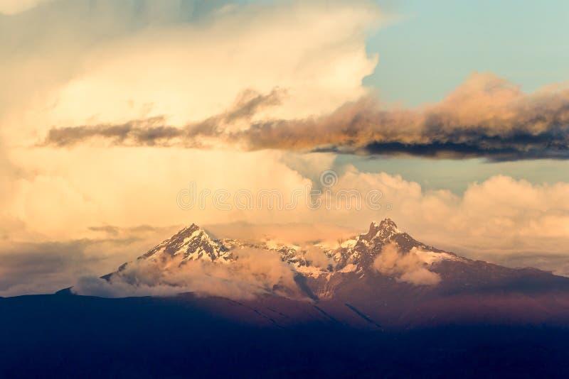 El Ołtarzowy wulkan W Ekwador obrazy royalty free