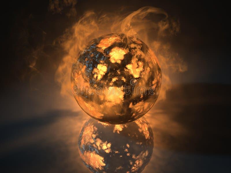 El objeto de la esfera que brillaba intensamente llenó de energía libre illustration