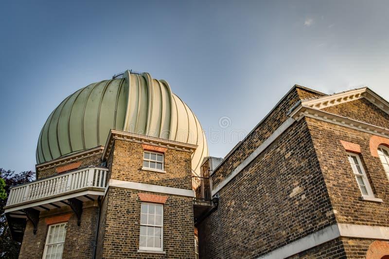 El observatorio real, parque de Greenwich, Londres Inglaterra imagen de archivo
