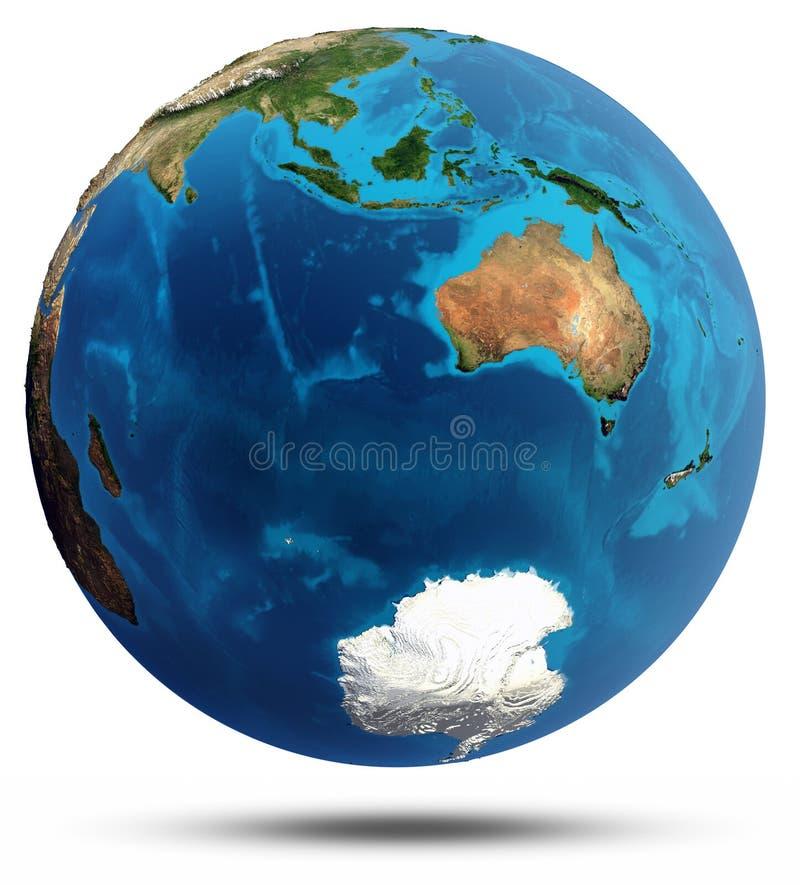 Download El Océano Índico Y Alivio Real Y Agua De Australia Stock de ilustración - Ilustración de claro, clima: 42439758