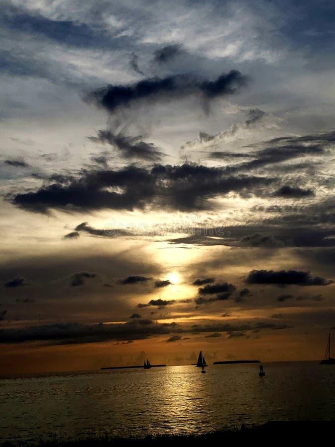 El océano Sunset fotos de archivo libres de regalías