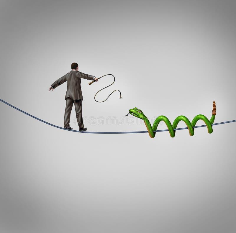 El ocuparse de adversidad stock de ilustración
