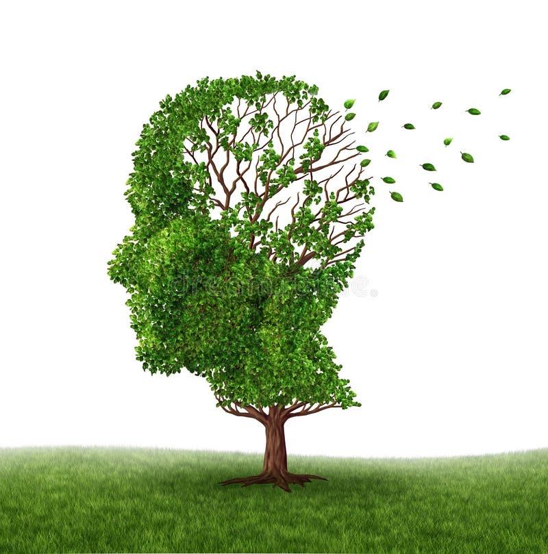 El ocuparse de demencia stock de ilustración