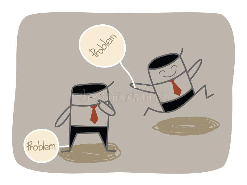 El ocuparse de problema stock de ilustración