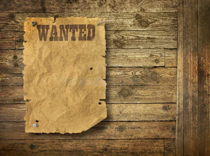 El oeste salvaje rasgado quiso el cartel imágenes de archivo libres de regalías