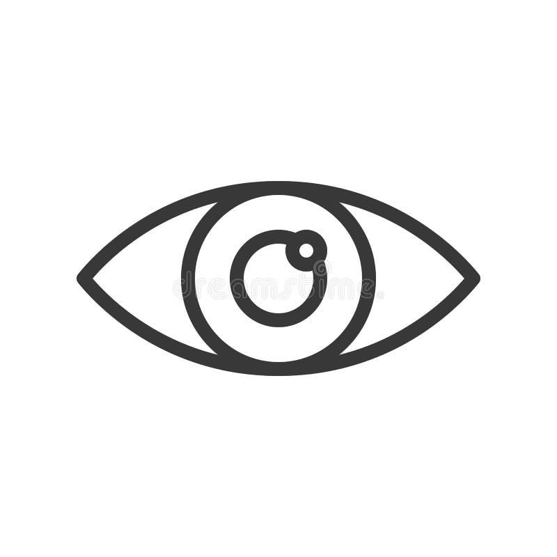 El ojo, órgano humano relacionó el icono del vector del esquema libre illustration
