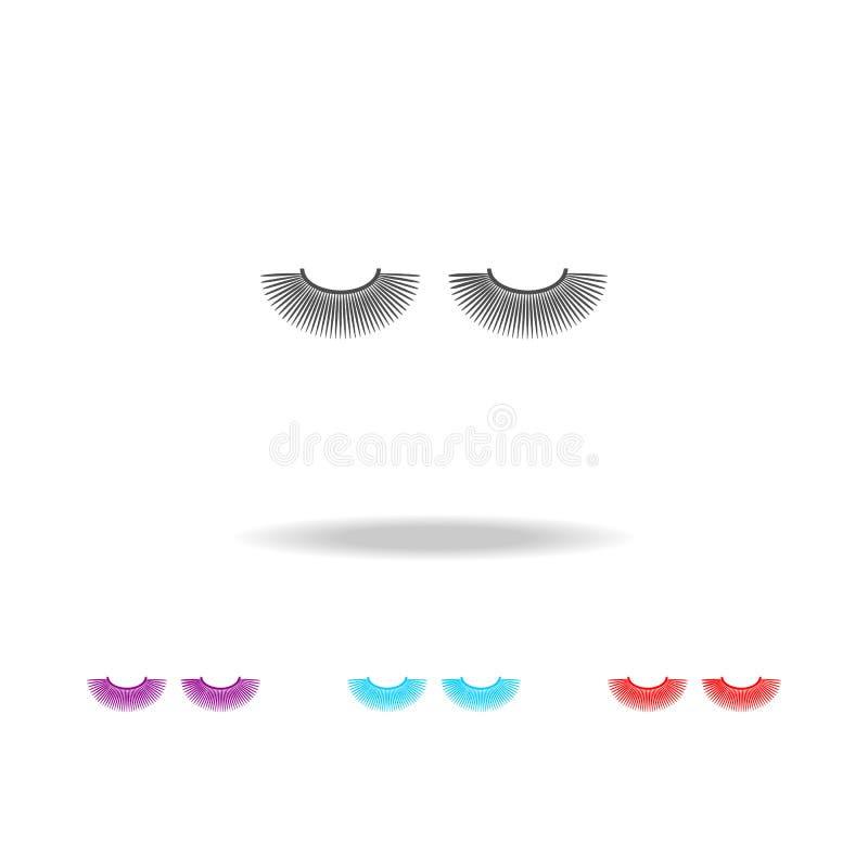 El ojo azota el icono Elementos del estilo de vida en iconos coloreados multi Icono superior del diseño gráfico de la calidad Ico libre illustration
