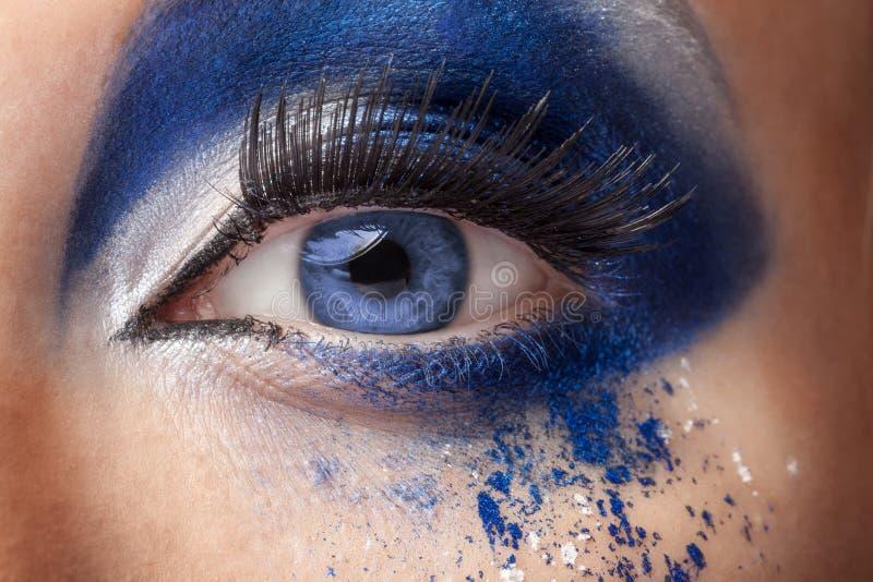 El ojo azul con la moda de la fantasía compone fotos de archivo libres de regalías