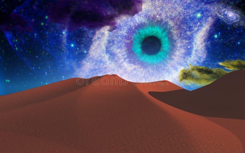 El ojo de dios stock de ilustración