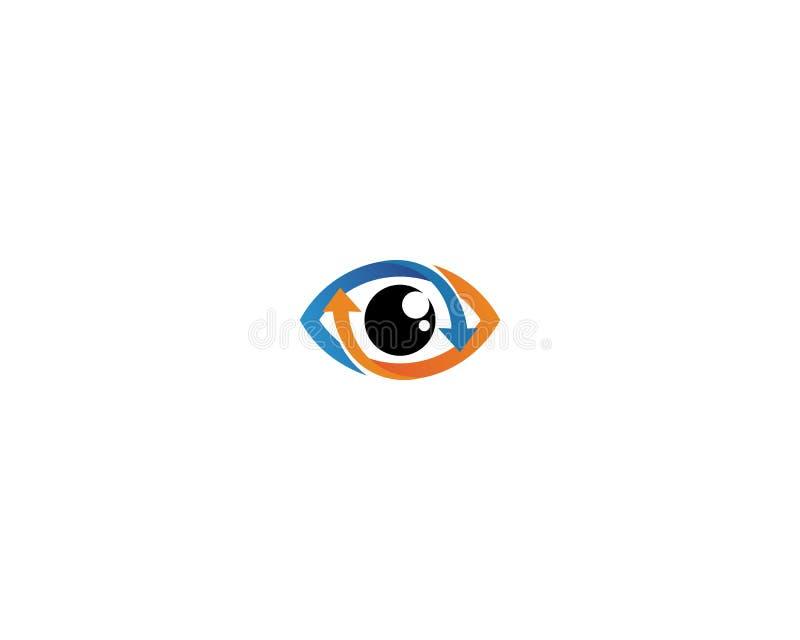 El ojo de Horus y de x28; Ojo del Ra, Wadjet& x29; cre?do por los egipcios antiguos para tener poderes curativos y protectores libre illustration