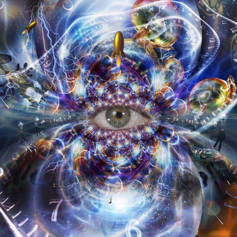 El ojo de la eternidad ilustración del vector
