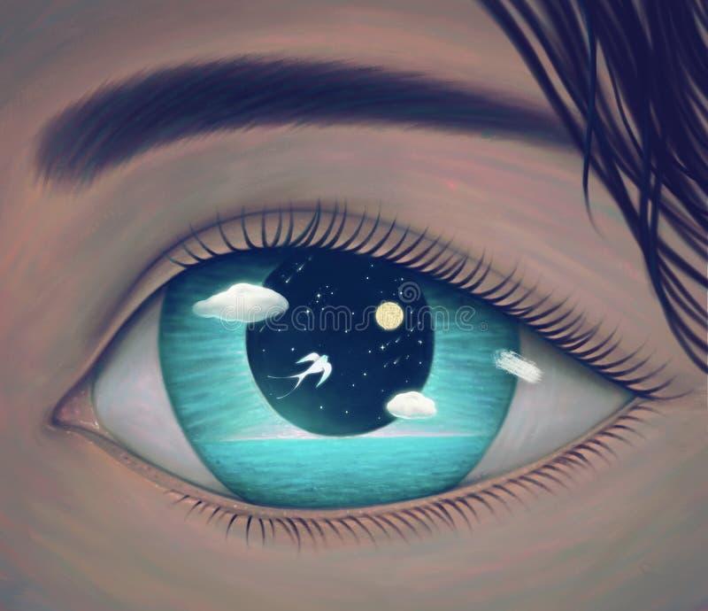 El ojo de la libertad stock de ilustración