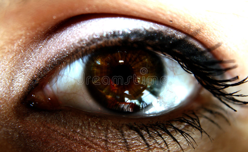 El ojo del espectador imagen de archivo