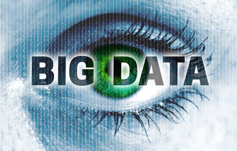 El ojo grande de los datos mira concepto del espectador imagen de archivo