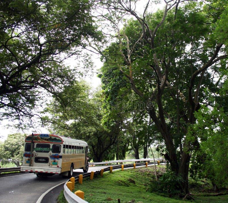 El omnibus en la república Panamá imagen de archivo libre de regalías
