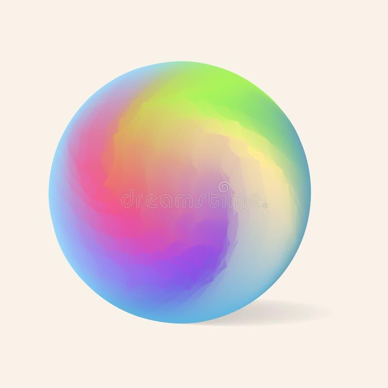 El orbe del remolino de la pendiente con cristaliza efecto aislado sobre fondo beige libre illustration