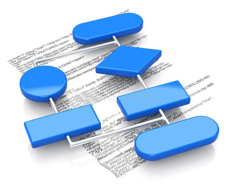 El organigrama stock de ilustración