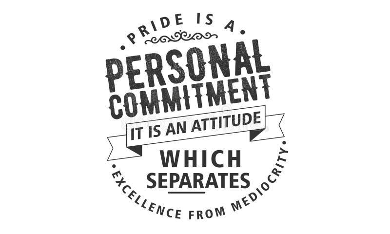 El orgullo es un compromiso personal libre illustration