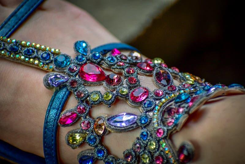 El ornamental de las gemas empiedra colores múltiples foto de archivo libre de regalías