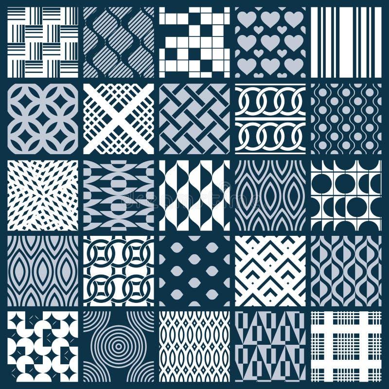 El ornamental gráfico teja la colección, sistema del vector monocromático con referencia a ilustración del vector