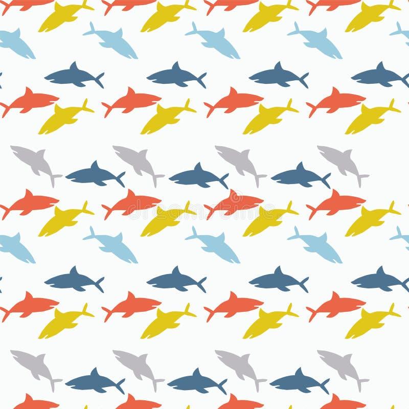 El ornamento de tiburones coloridos libre illustration