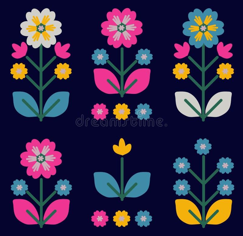 El ornamento floral retro, tradicional inspiró por el ucraniano y el político libre illustration