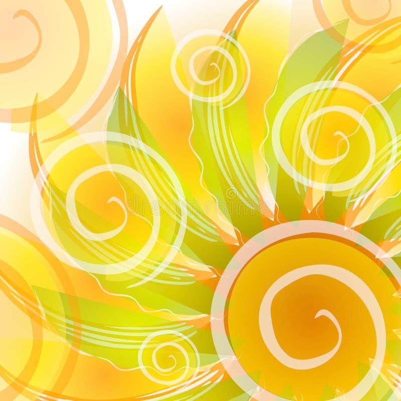 El oro abstracto remolina contexto ilustración del vector