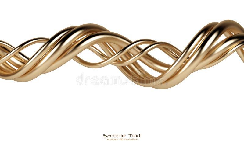 El oro aislado extracto alinea el fondo stock de ilustración