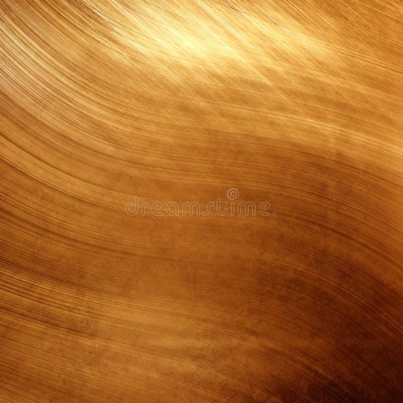 El oro viejo pulió la textura del metal para el diseño o el fondo imagenes de archivo