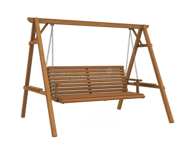 El oscilación de madera Seat del jardín aisló libre illustration