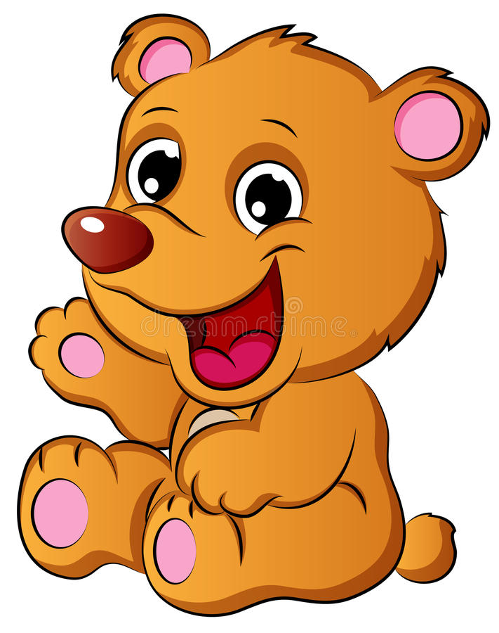 El oso Cub de la historieta Vector el ejemplo stock de ilustración