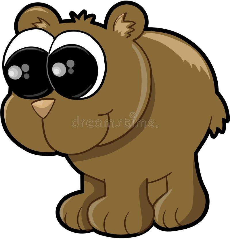 El oso Cub lindo Vector el ejemplo stock de ilustración