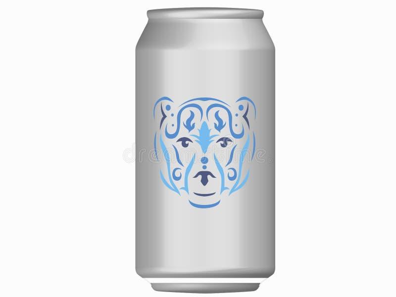 El oso tribal puede maqueta libre illustration