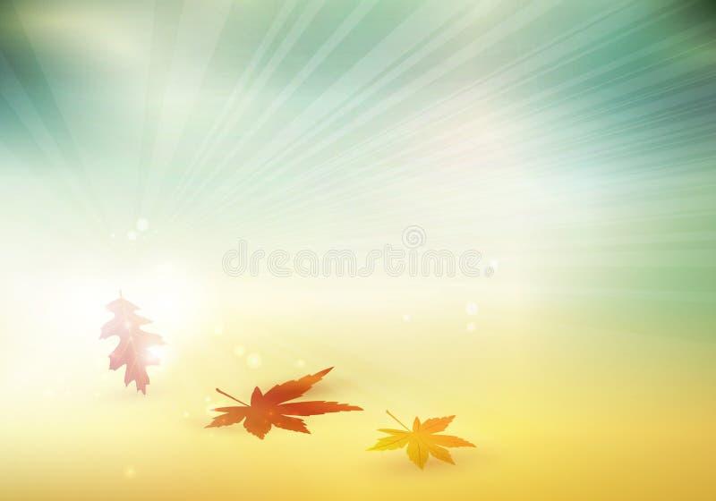 El otoño abstracto, caída deja el fondo borroso stock de ilustración