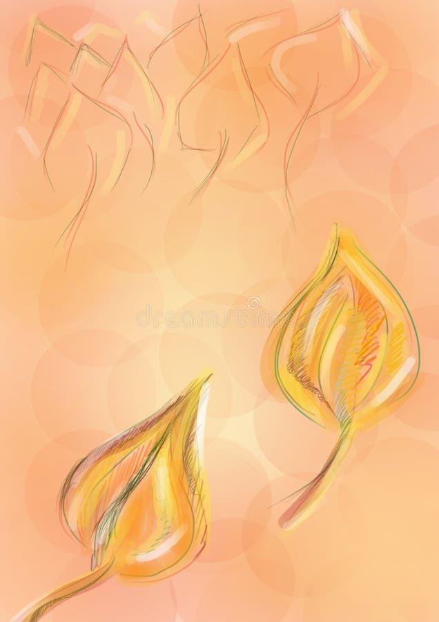 El otoño hojea fondo libre illustration