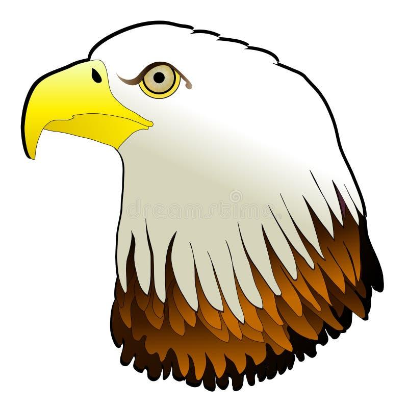 El pájaro de gran alcance del águila calva ruega libre illustration