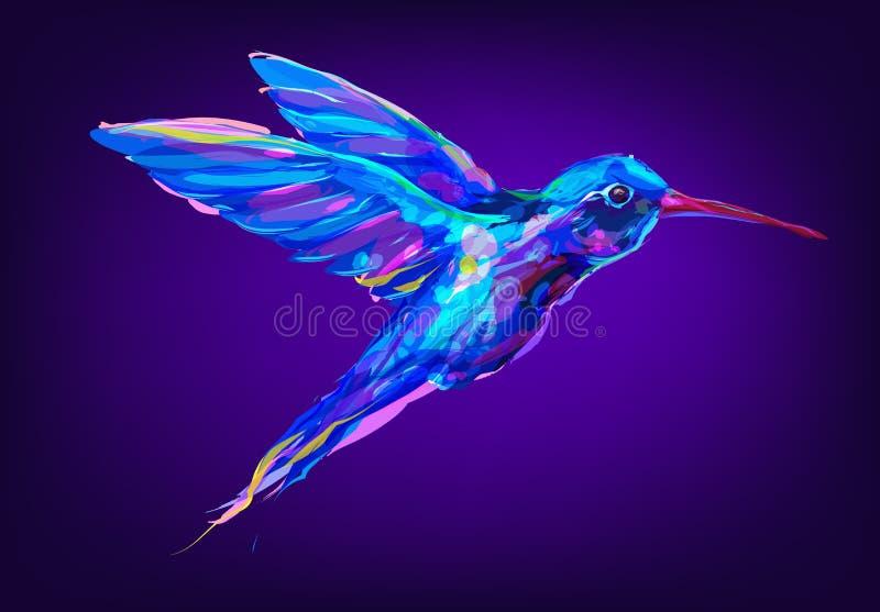 El Pájaro Exótico Rojo Lindo De Colibri Ilustración del Vector ...