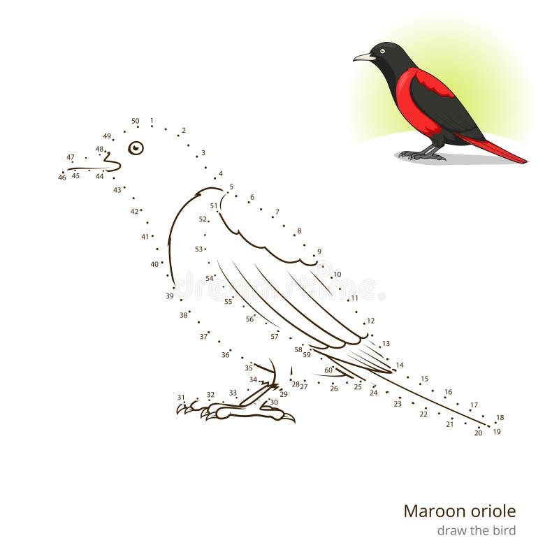 Download El Pájaro Marrón Del Oriole Aprende Dibujar Vector Ilustración del Vector - Ilustración de juego, pájaro: 64211717