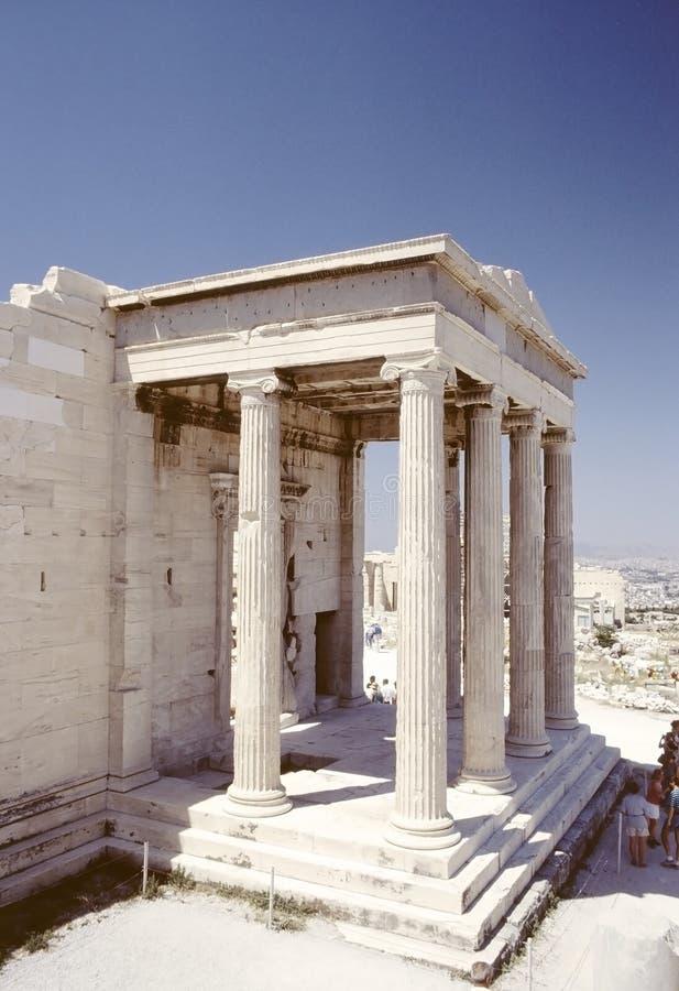 El pórtico del norte del Erechtheion, Atenas fotos de archivo