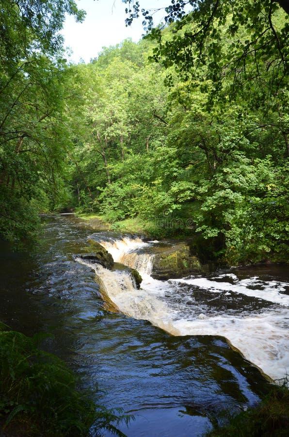 El país de la cascada en Brecon baliza el parque nacional, Reino Unido fotografía de archivo libre de regalías
