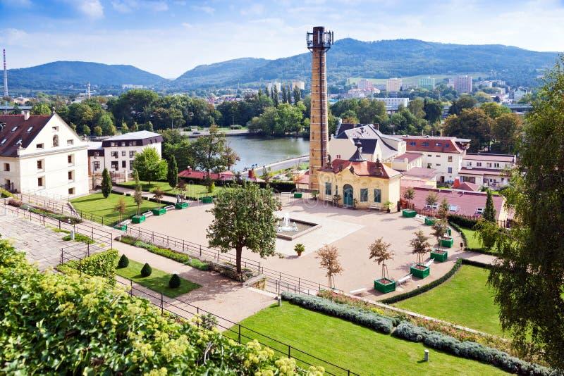 el pabellón chino, castillo cultiva un huerto, ciudad Decin, Bohemia del norte, República Checa fotos de archivo