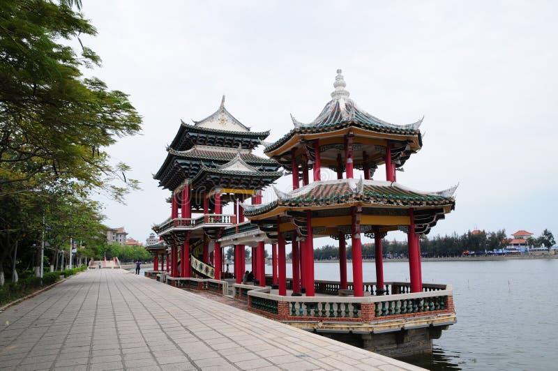 El pabellón chino en pueblo de la escuela de Jimei en Xiamen foto de archivo libre de regalías