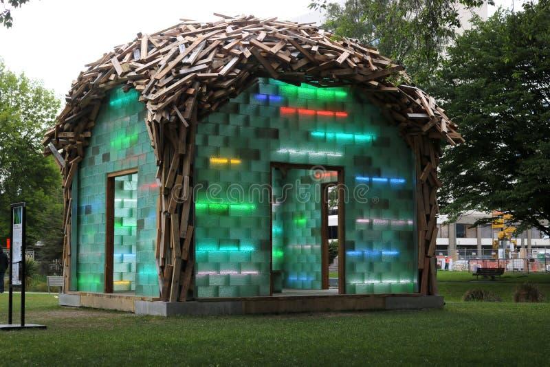 El pabellón de cristal de Gregor Kregar, Christchurch imagen de archivo
