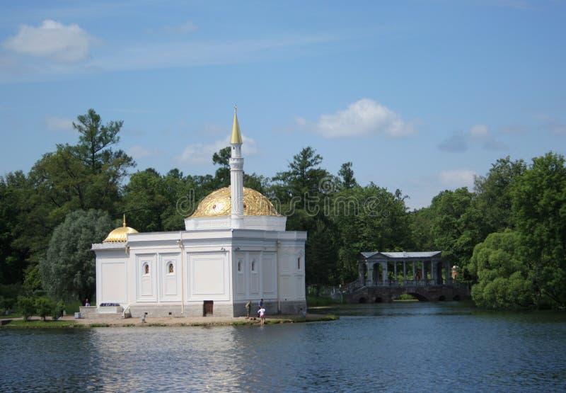 El pabellón del baño turco en Tsarskoye Selo foto de archivo